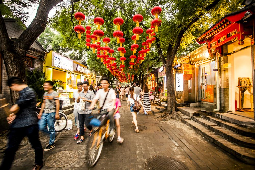 rue passante de Pékin