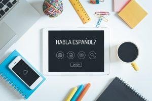 apprendre l'espagnol avec une tablette