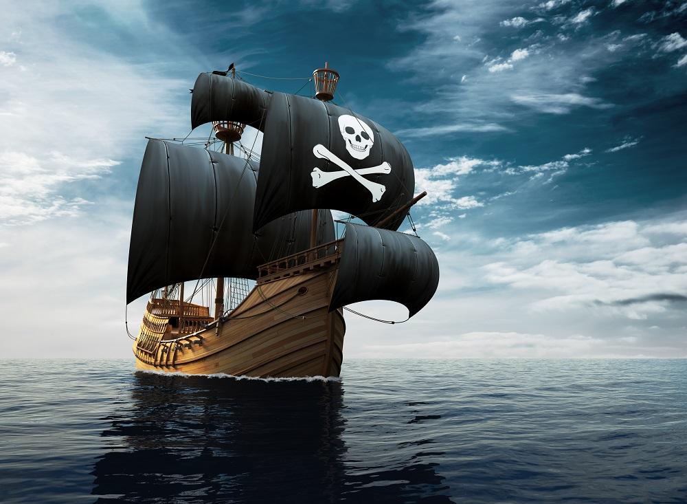 bateau pirate sur la mer