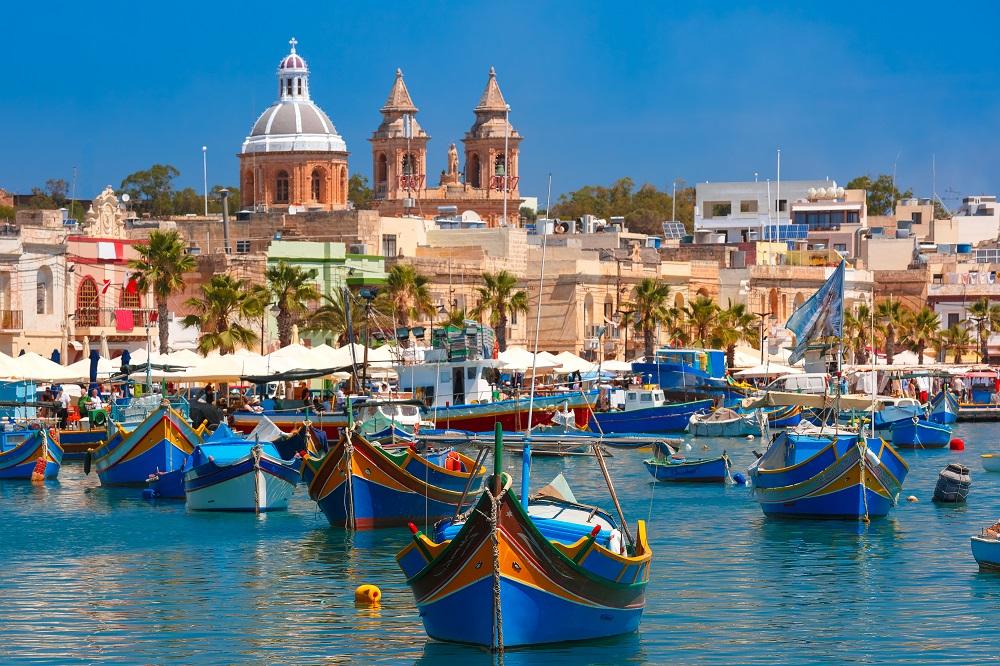 vue du port de Malte la Valette