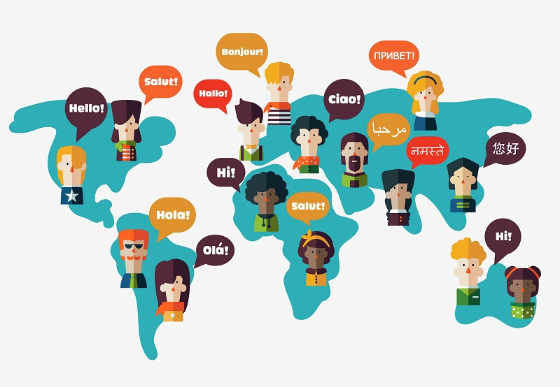 Carte des langages par pays